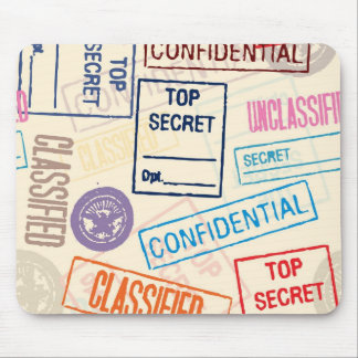 Top Secret - Keep Out Mouse Pad
