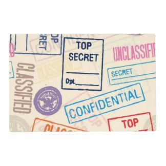 Top Secret - Keep Out Laminated Place Mat