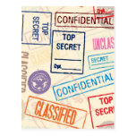Top Secret - Keep Out Post Card
