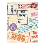Top Secret - Keep Out Postcard
