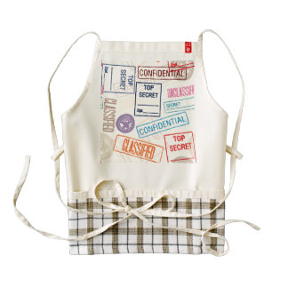 Top Secret - Keep Out Zazzle HEART Apron