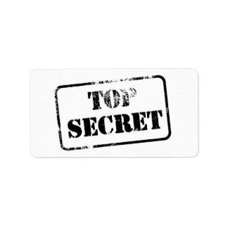 Top Secret Personalized Address Labels