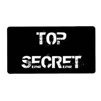 TOP SECRET LABELS