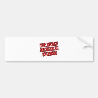 Top Secret Mechanical Engineer Bumper Stickers