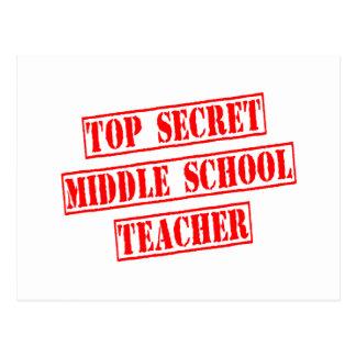 Top Secret Middle School Teacher Post Cards