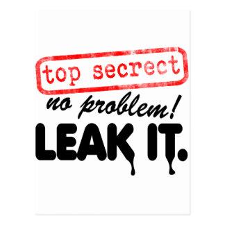 Top Secret, No Problem! Leak it! Postcard