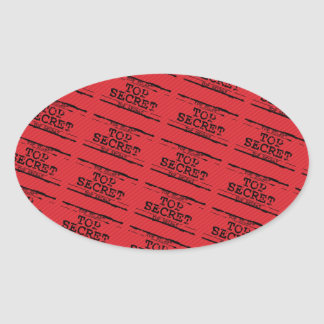 Top Secret Oval Sticker