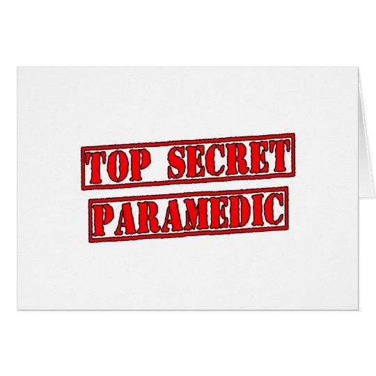Top Secret Paramedic Card