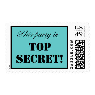 Top Secret Party Postage