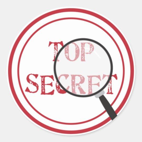 Top Secret Party Sticker