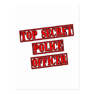 Top Secret Police Officer Postcard