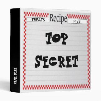 TOP SECRET Recipe Binder