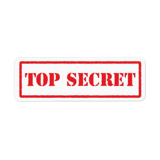 Top secret red stamped label