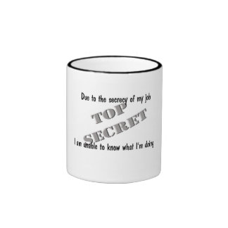 Top Secret Ringer Coffee Mug