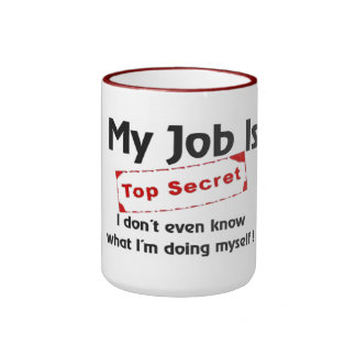 Top Secret Ringer Mug