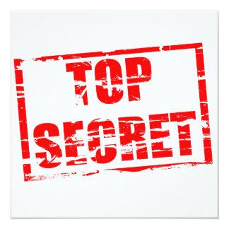 Top secret rubber stamp effect card