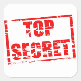 Top secret rubber stamp effect square sticker