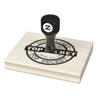Top Secret Sign Rubber Stamp