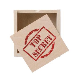 Top Secret Small Wood Keepsake Box