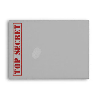 TOP SECRET  Speech Bubble Custom Envelopes