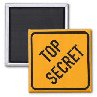 Top Secret Spy CIA Yellow Diamond Warning Sign Magnet