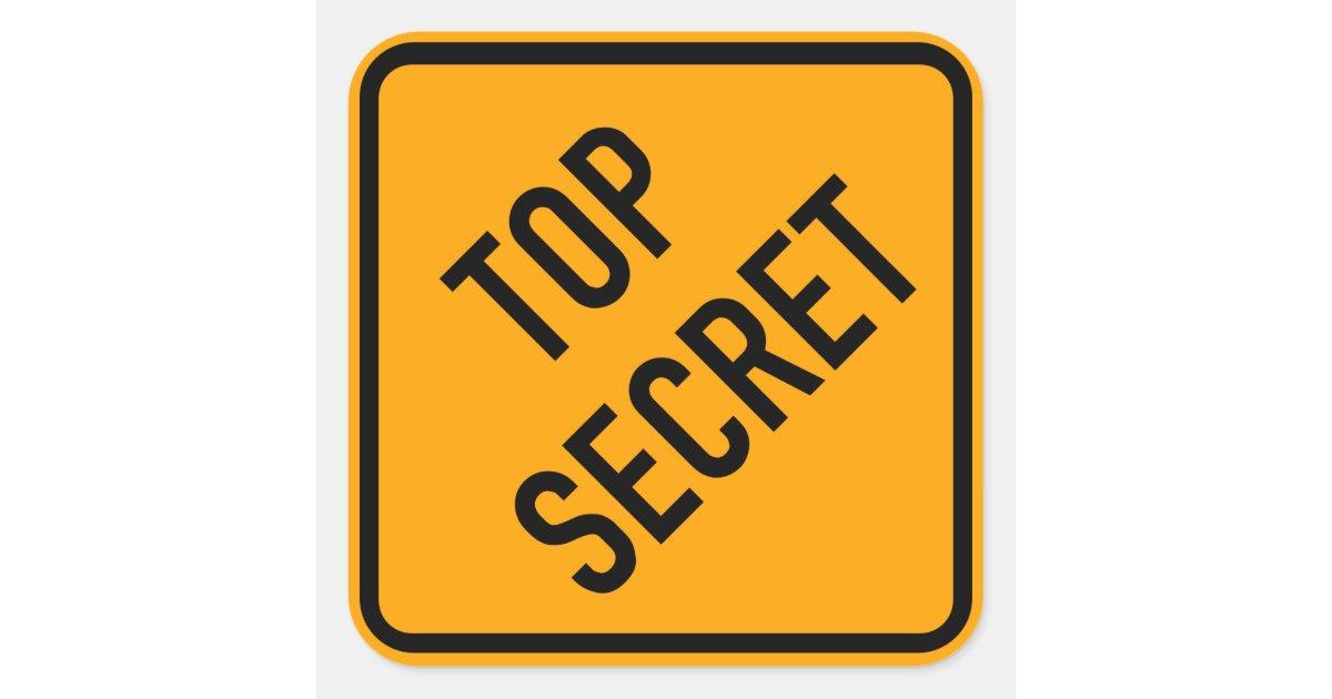 Top Secret Spy CIA Yellow Diamond Warning Sign Square ...