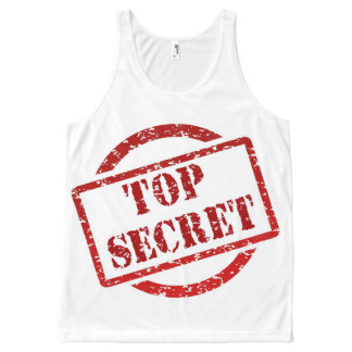 Top Secret Stamp All-Over Printed Unisex Tank