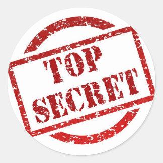 Top Secret Stamp Classic Round Sticker, Glossy Classic Round Sticker