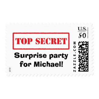 Top secret stamp surprise party postage stamps