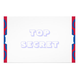 TOP SECRET stationery