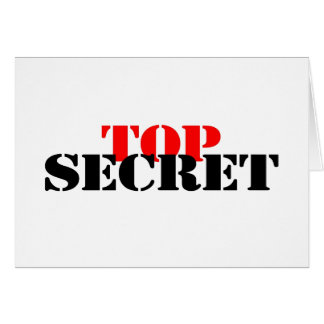 Top Secret Stationery Note Card