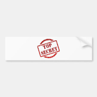 Top Secret supper Image Bumper Sticker
