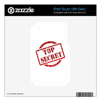 Top Secret supper Image iPod Touch 4G Decal