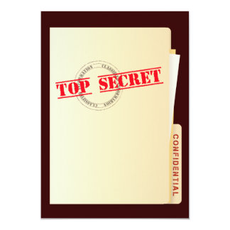 Top Secret Surprise Birthday Party Custom Invites