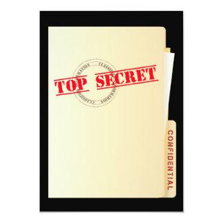 "Top Secret Surprise Party Custom Invites 5"" X 7"" Invitation Card"
