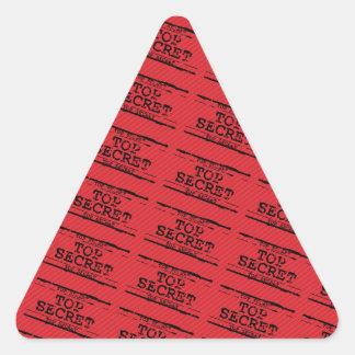 Top Secret Triangle Sticker