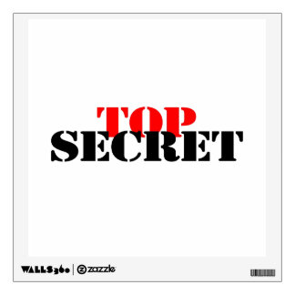 Top Secret Wall Sticker