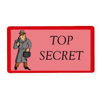 Top Secret With Spy Label