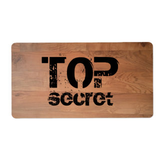Top Secret Wood Floor Avery Label