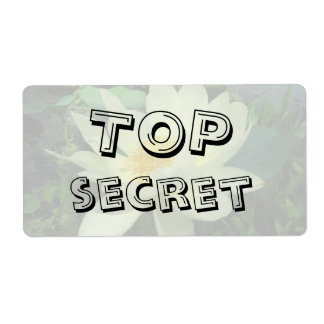 Top Secret Yellow water lily flower gift Label Shipping Label