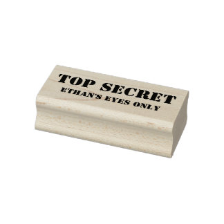 Top Secret // Your Eyes Only Personalized Custom Rubber Stamp