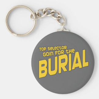 Top Selector Selecta Burial Dubstep DJ Basic Round Button Keychain