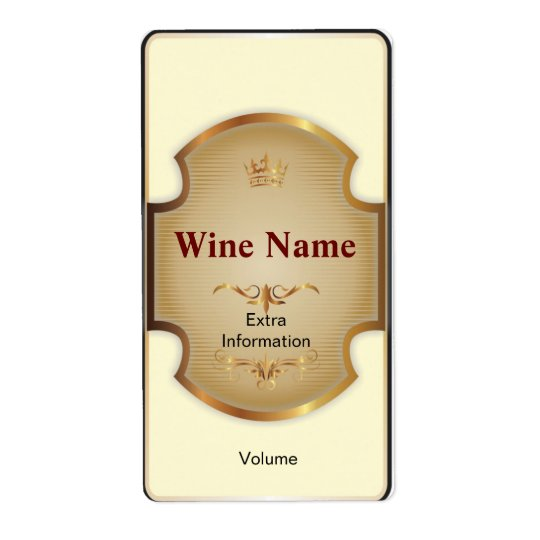 Top shelf white wine label for Avery wine label templates