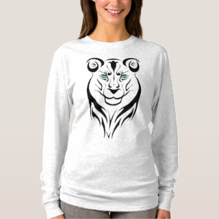 Top Simple Design Lion New Crazy Cool Life One Tee