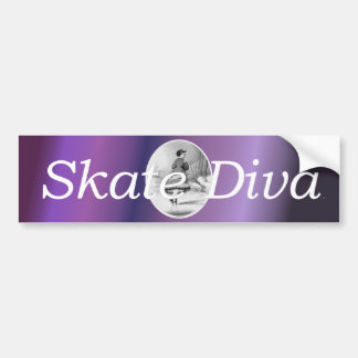TOP Skating Beauty Bumper Sticker