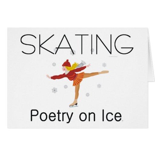 TOP Skating Poetry Greeting Card