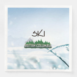 TOP Ski BC Paper Dinner Napkin