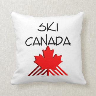 TOP Ski Canada Throw Pillow