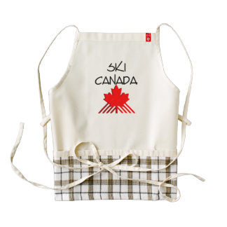 TOP Ski Canada Zazzle HEART Apron