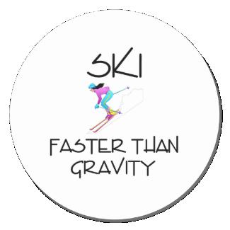 TOP Ski Faster Classic Round Sticker